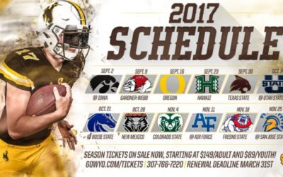 2017 Wyoming Football Schedule Announced
